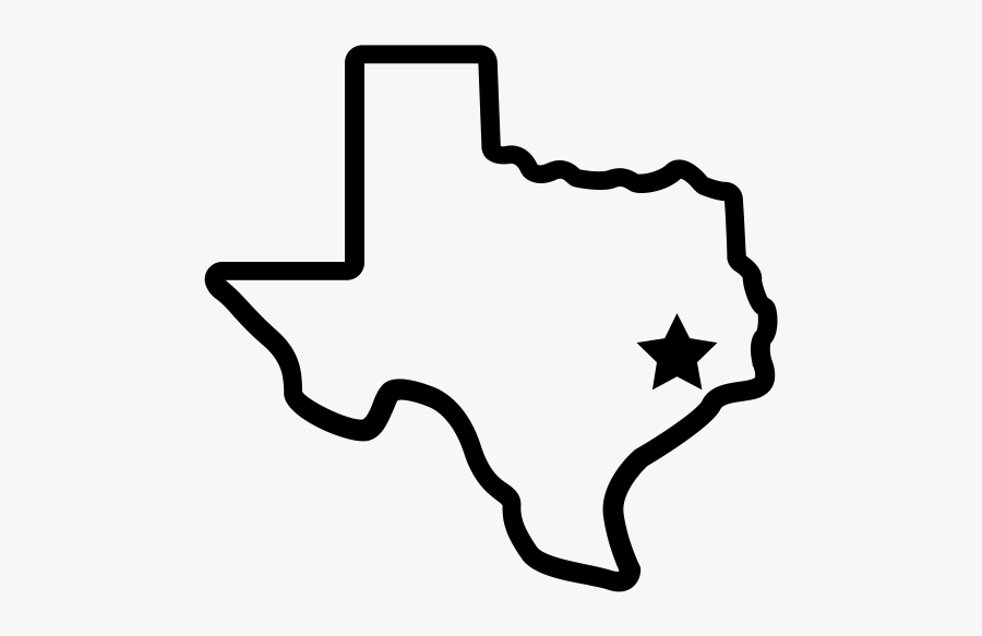Clip Art Png For Free - Texas With Houston Star, Transparent Clipart