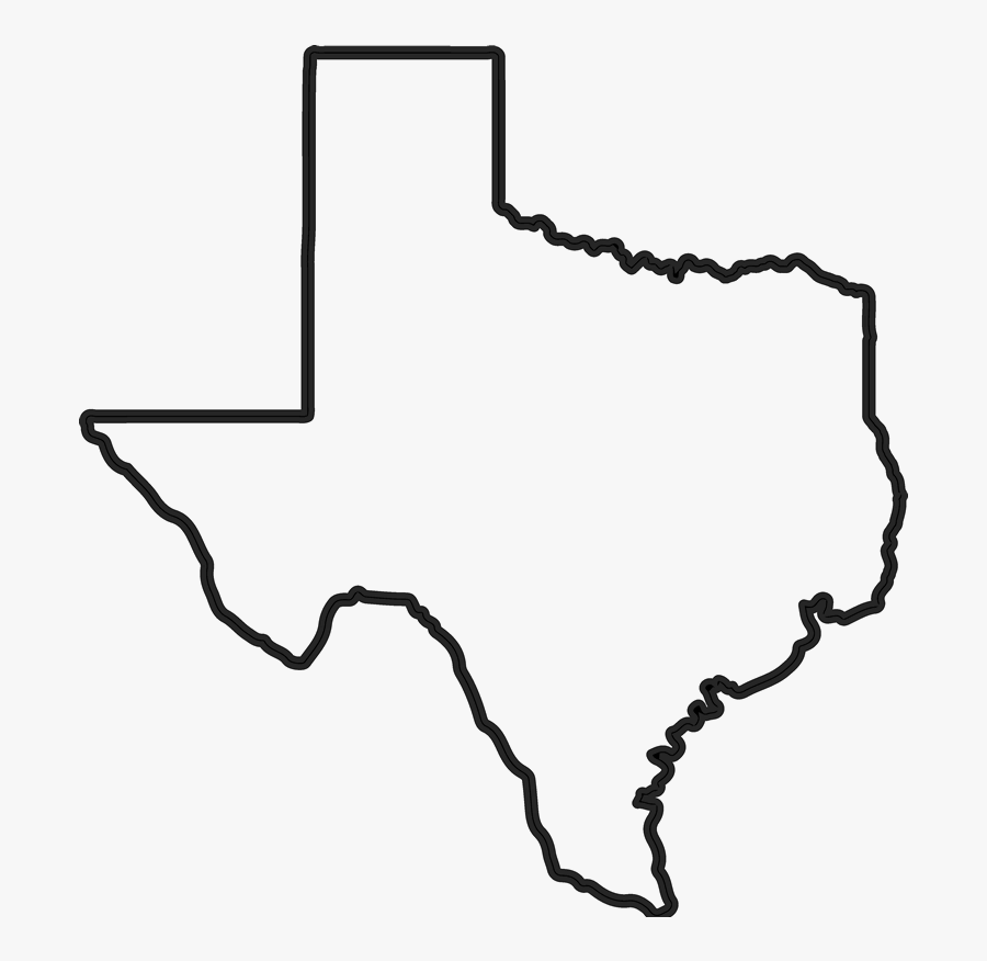 State Of Texas Outline Png - Texas State Outline Png, Transparent Clipart