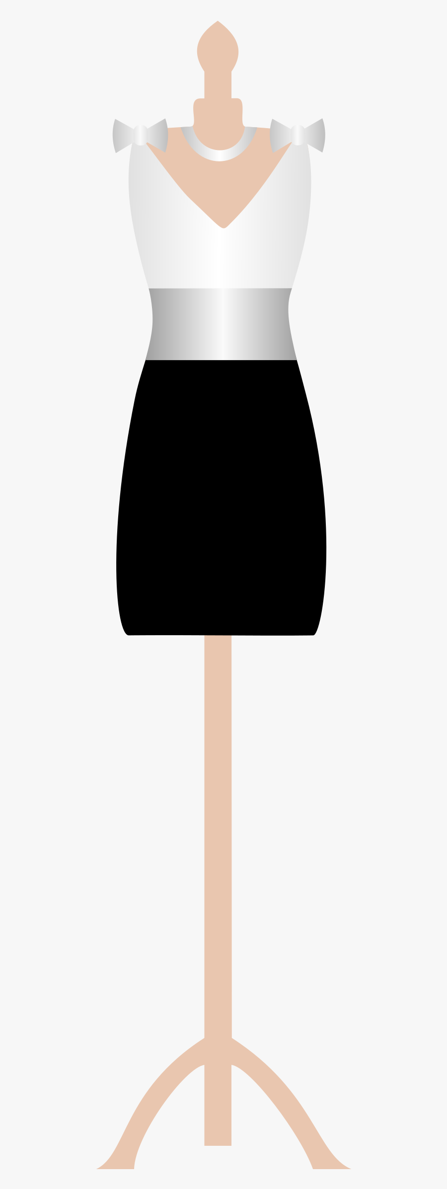 Dress Clipart Png - Dress On Mannequin Png, Transparent Clipart