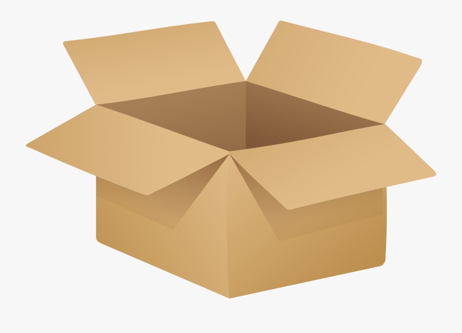 Open Cardboard Box Png Clip Art - Open Box Transparent Background, Transparent Clipart