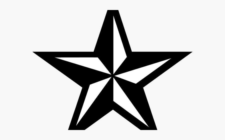 Nautical Star Tattoos Clipart Compass - Star Tattoo Black And White, Transparent Clipart