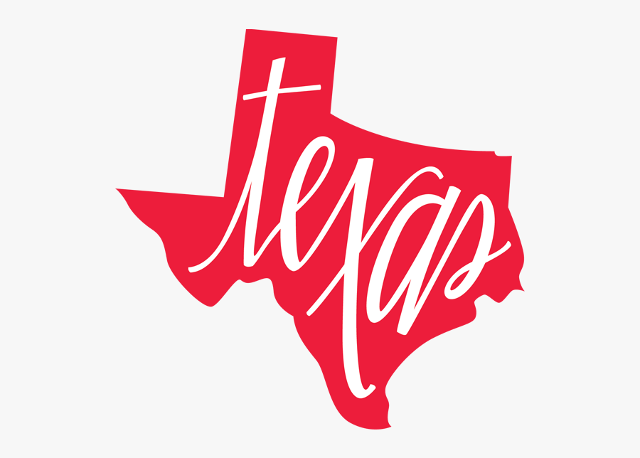 Texas State Outline, Transparent Clipart