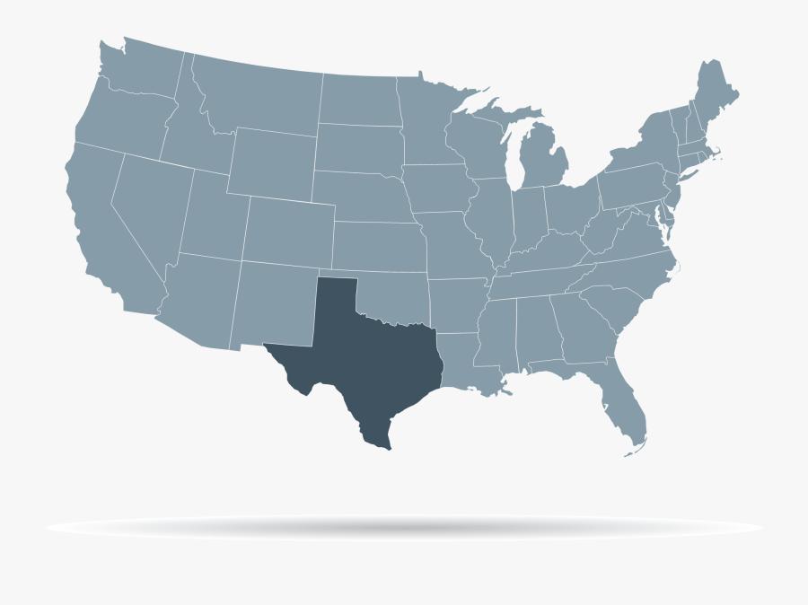Usa Map Green, Transparent Clipart