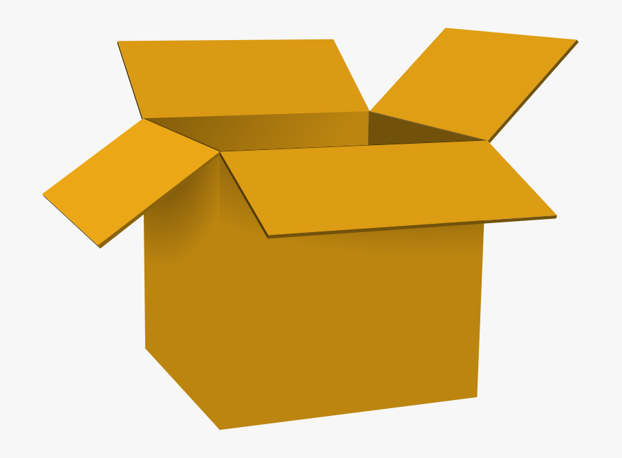 Gold Open Box Clipart - Box Clipart, Transparent Clipart