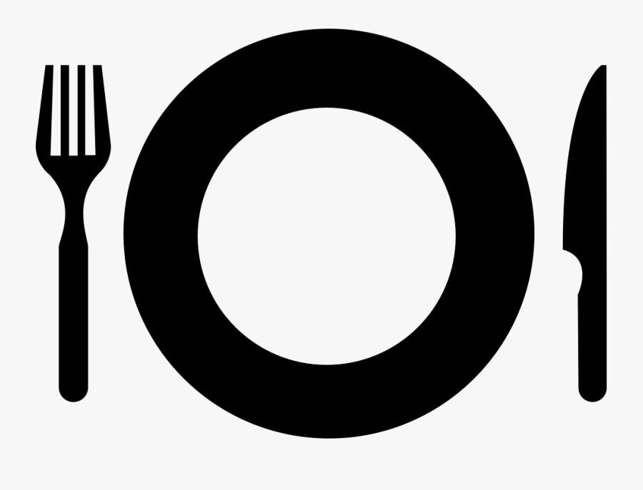 Kitchen Cutlery Restaurant Plate Fork Knife Comments - Plate And Cutlery Icon, Transparent Clipart