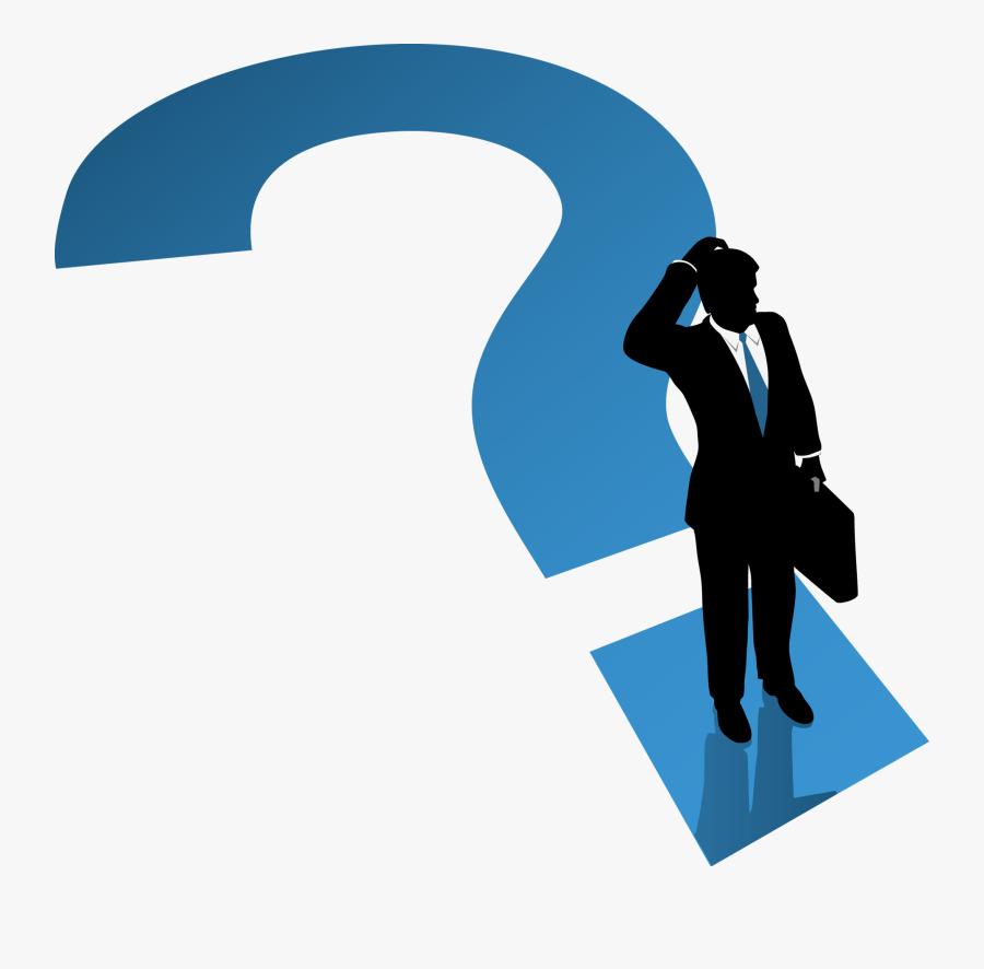 Question Mark Businessman - Business Man Question Mark, Transparent Clipart