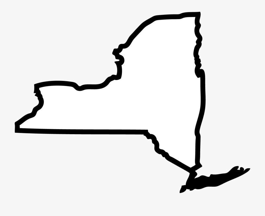 New York City State Outline, Transparent Clipart