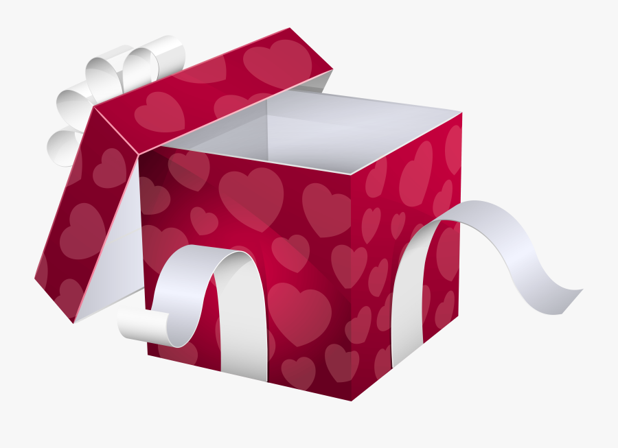 Open Pink Gift Box Png Clipart Image - Open Gift Box Png, Transparent Clipart