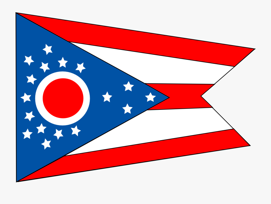 Area,text,flag - Ohio State Flag, Transparent Clipart