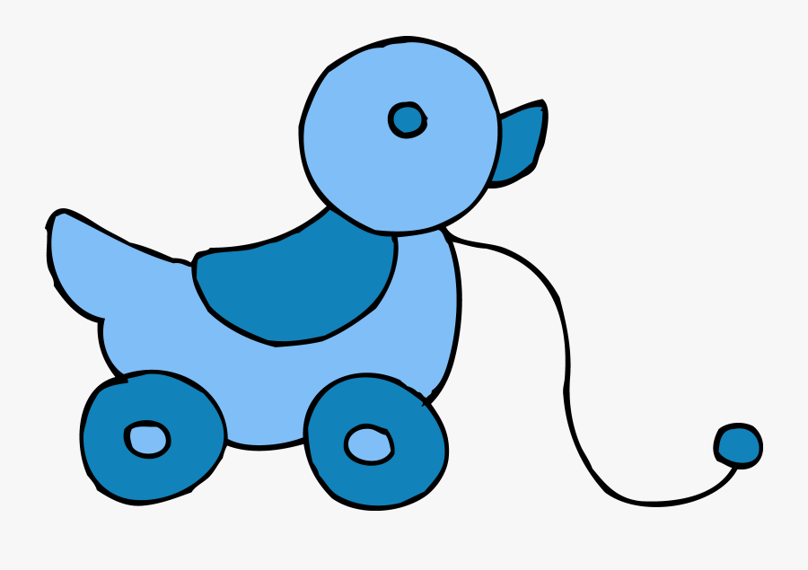 Cute Rolling Blue Ducky Toy - Baby Toys Clipart, Transparent Clipart