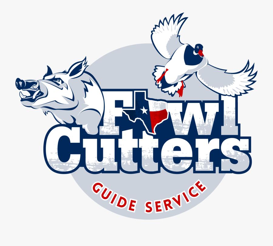 Fowl Cutters Guide Service, Transparent Clipart