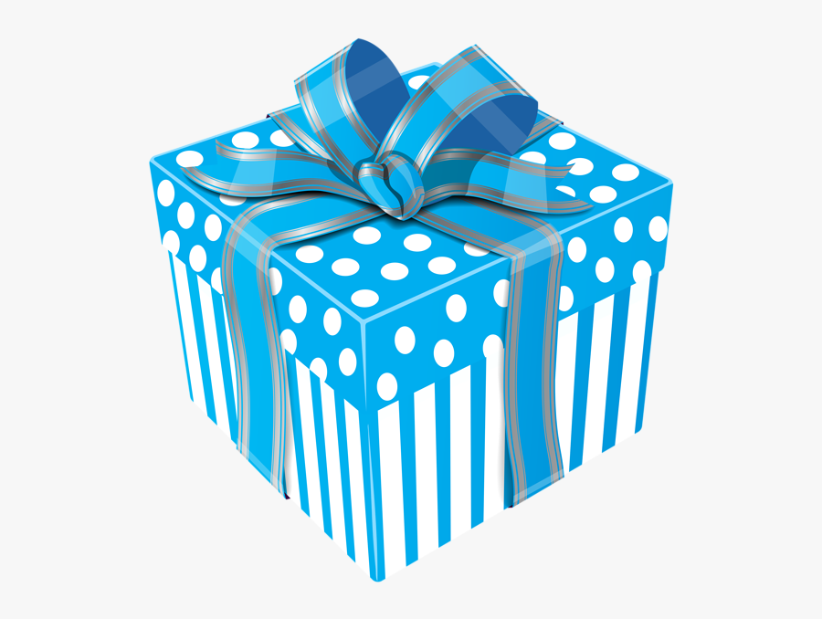 Blue Gift Box Png, Transparent Clipart