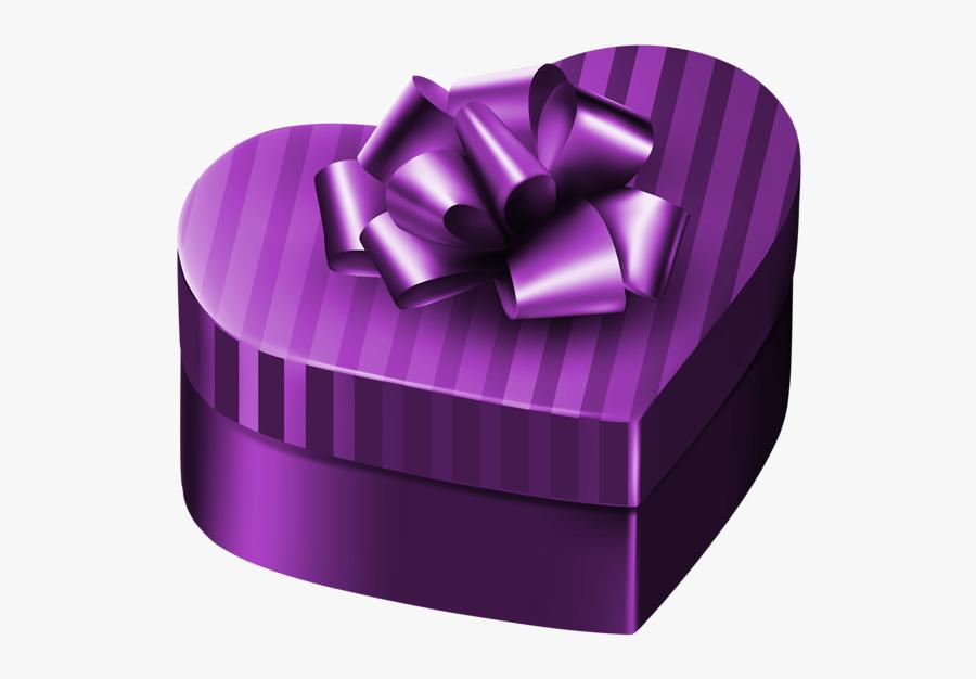 Purple Gift Box Clipart, Transparent Clipart