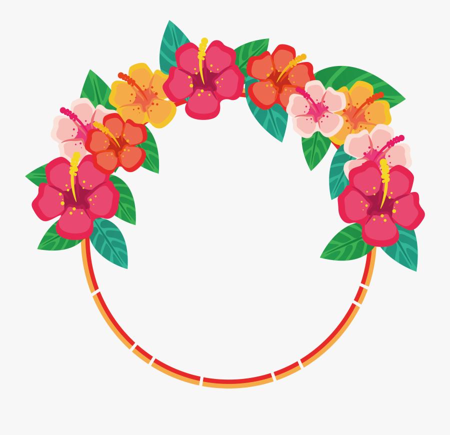 Flower Floral Design Download Clip Art - Round Flower Border Designs, Transparent Clipart