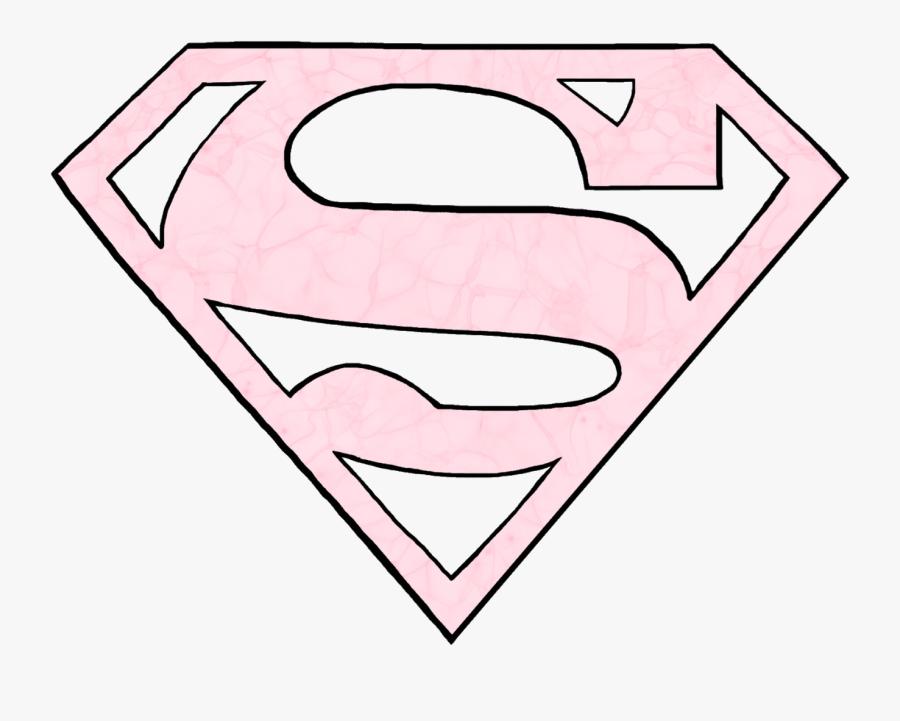 Superman Superwoman Logo Pink Freetoedit Pink Superwoman Logo Png Free Transparent Clipart Clipartkey