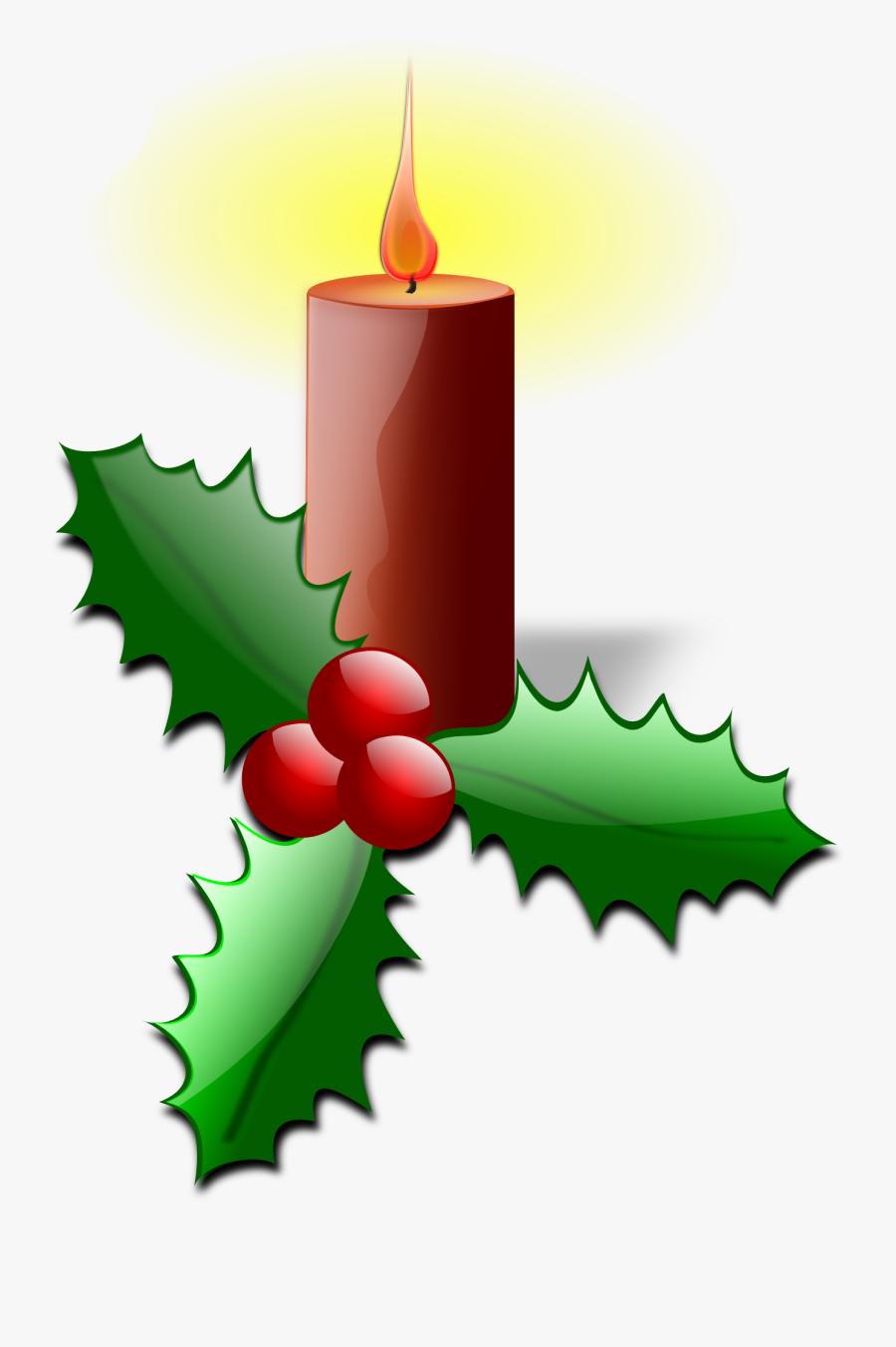 Candle Clipart Christmas Stuff - Clip Art Christmas Designs, Transparent Clipart
