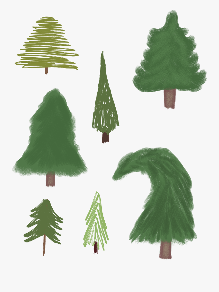 Clip Art How To Paint Pine Tree - Christmas Tree, Transparent Clipart
