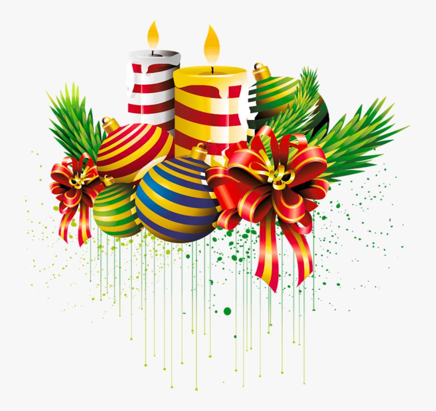Transparent Background Christmas Candle Clipart, Transparent Clipart