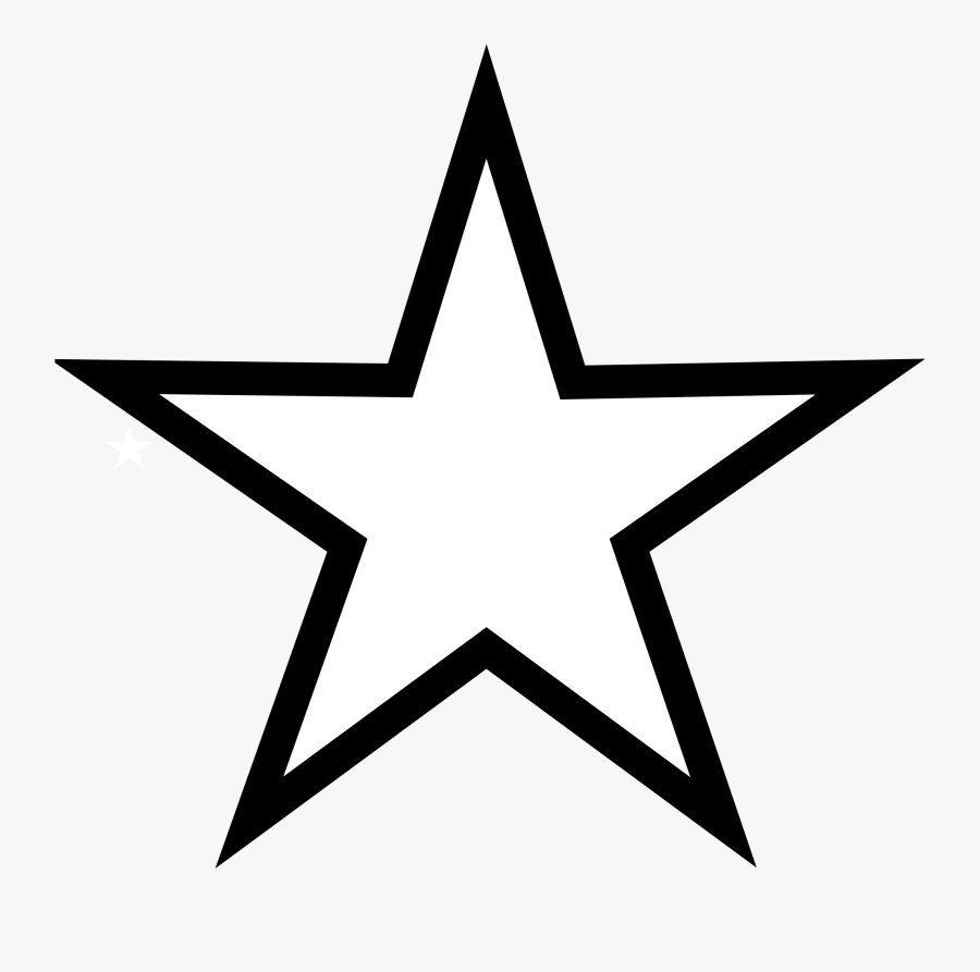 Transparent Star Clip Art - Star Clipart Black And White, Transparent Clipart