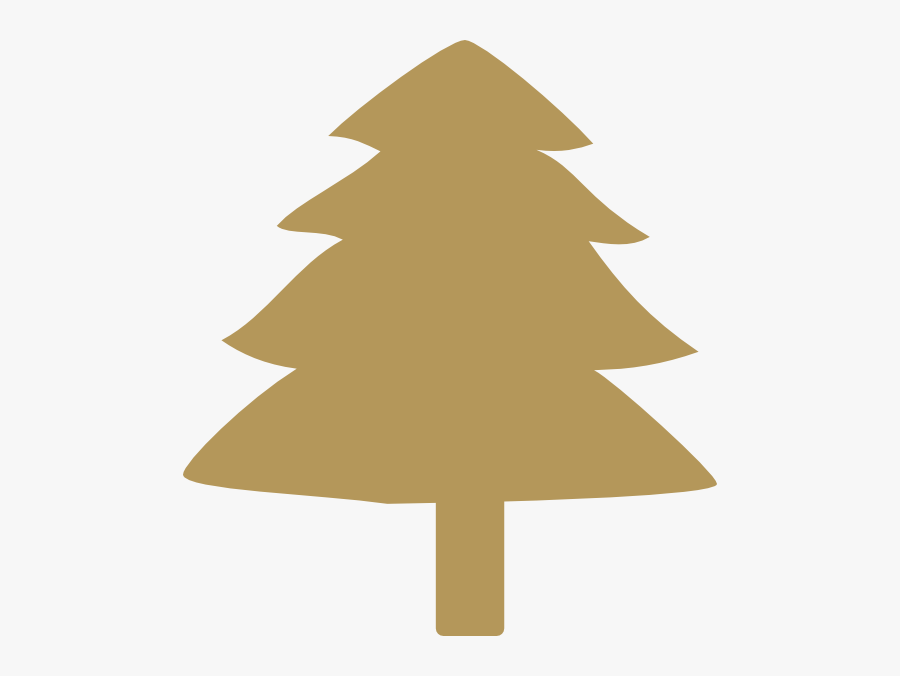 Gold Xmas Tree Clipart, Transparent Clipart