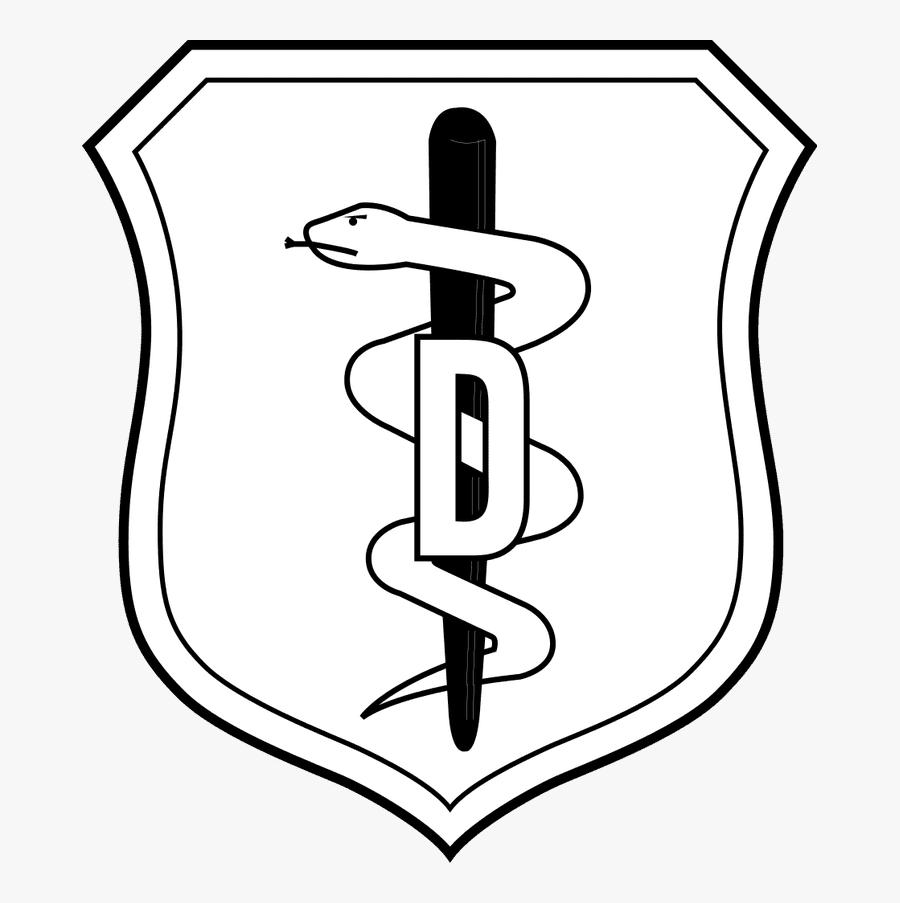 Dentist - Clipart - Black - And - White - Us Air Force Nurse Corps Badge, Transparent Clipart