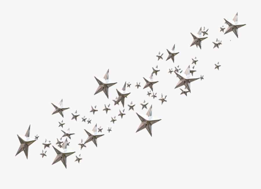 Star Clip Art - Transparent Background Black Stars Png, Transparent Clipart
