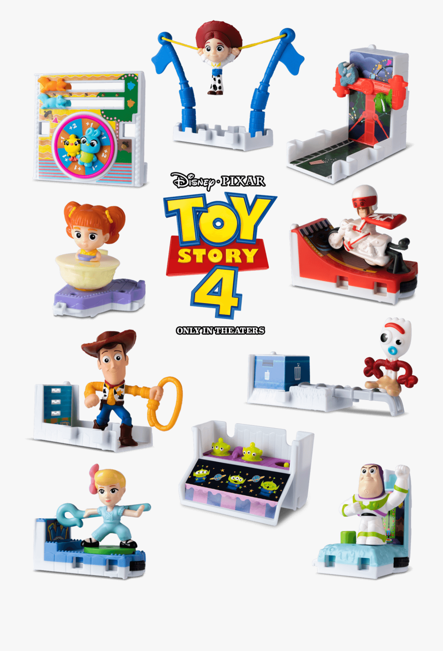 Transparent Kids Playing With Toys Clipart - Toy Story 4 Mcdonalds Toys, Transparent Clipart