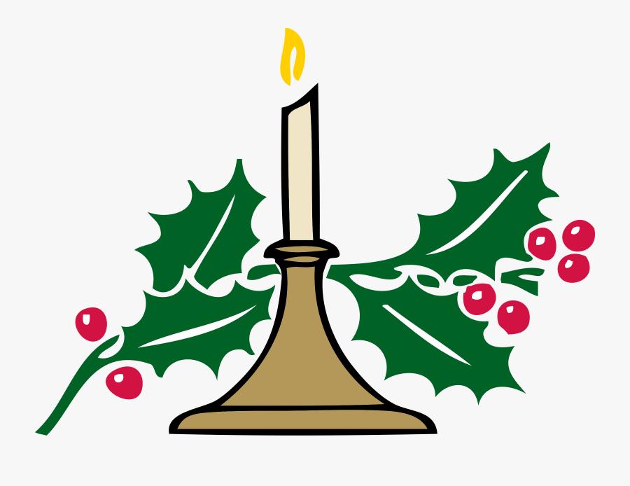 Christmas - Candle - Clipart - Clip Art Christmas Symbols, Transparent Clipart