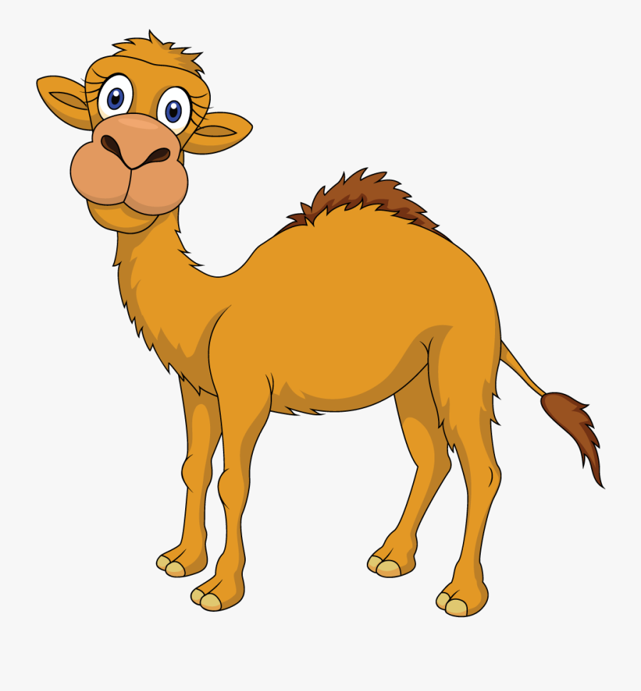 Cute Camel Clipart Funny Pictures - Camel And The Baby Story, Transparent Clipart