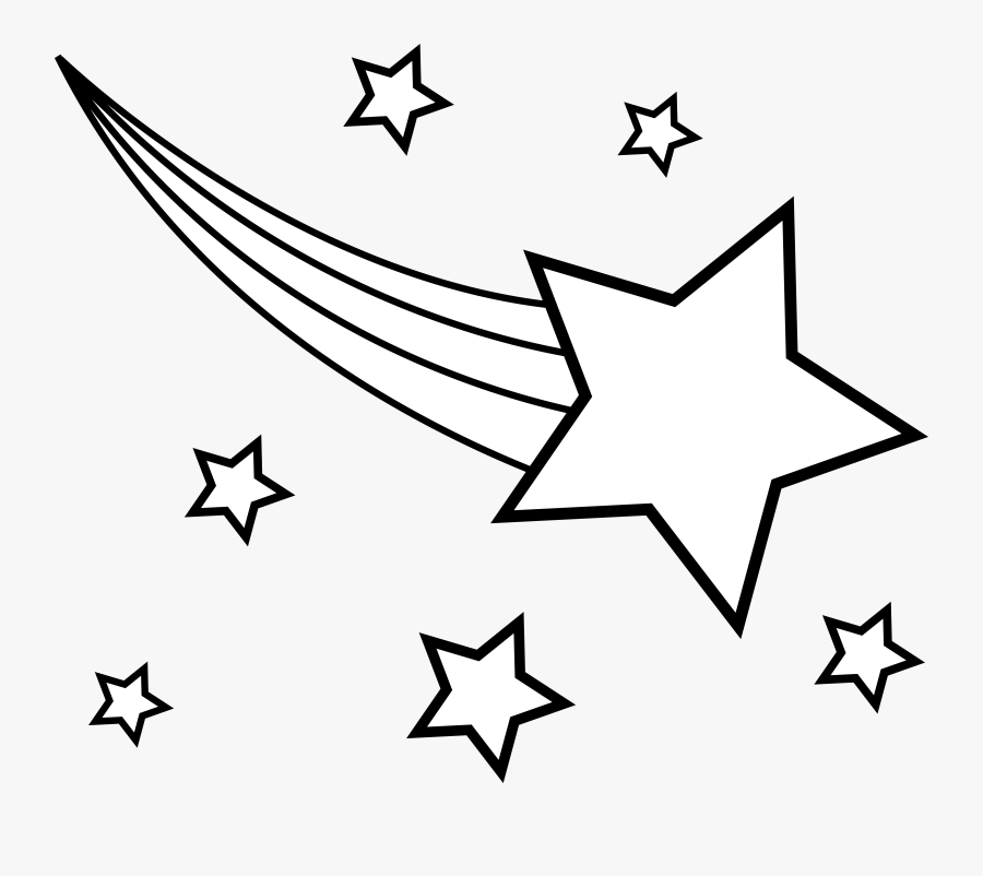 Shooting Star Clipart - Shooting Star Clipart Black And White, Transparent Clipart