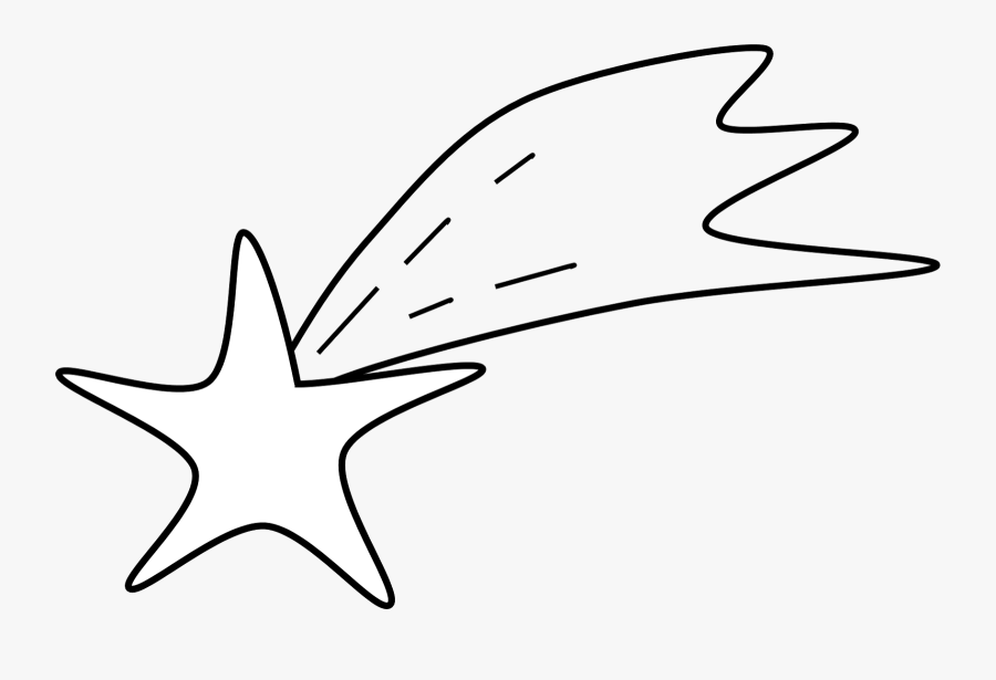 Shooting Star Coloring Page - Printable Shooting Star Template, Transparent Clipart
