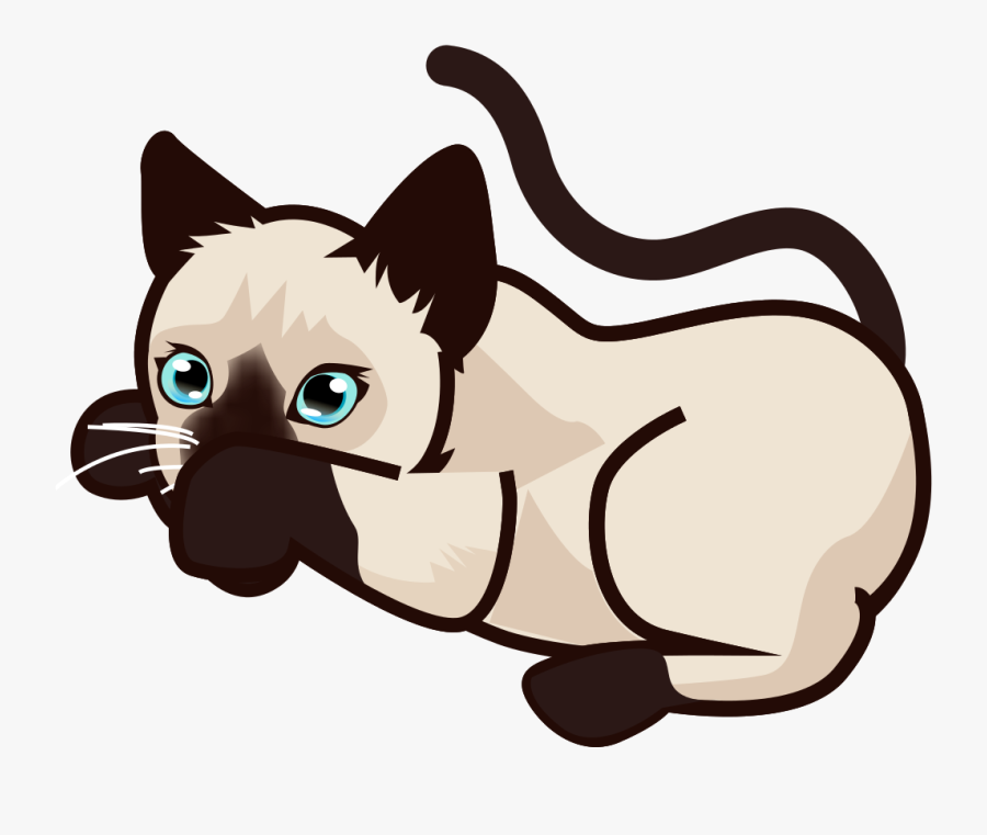 Cat Clipart Black And White - Clip Art Cats Siamese, Transparent Clipart