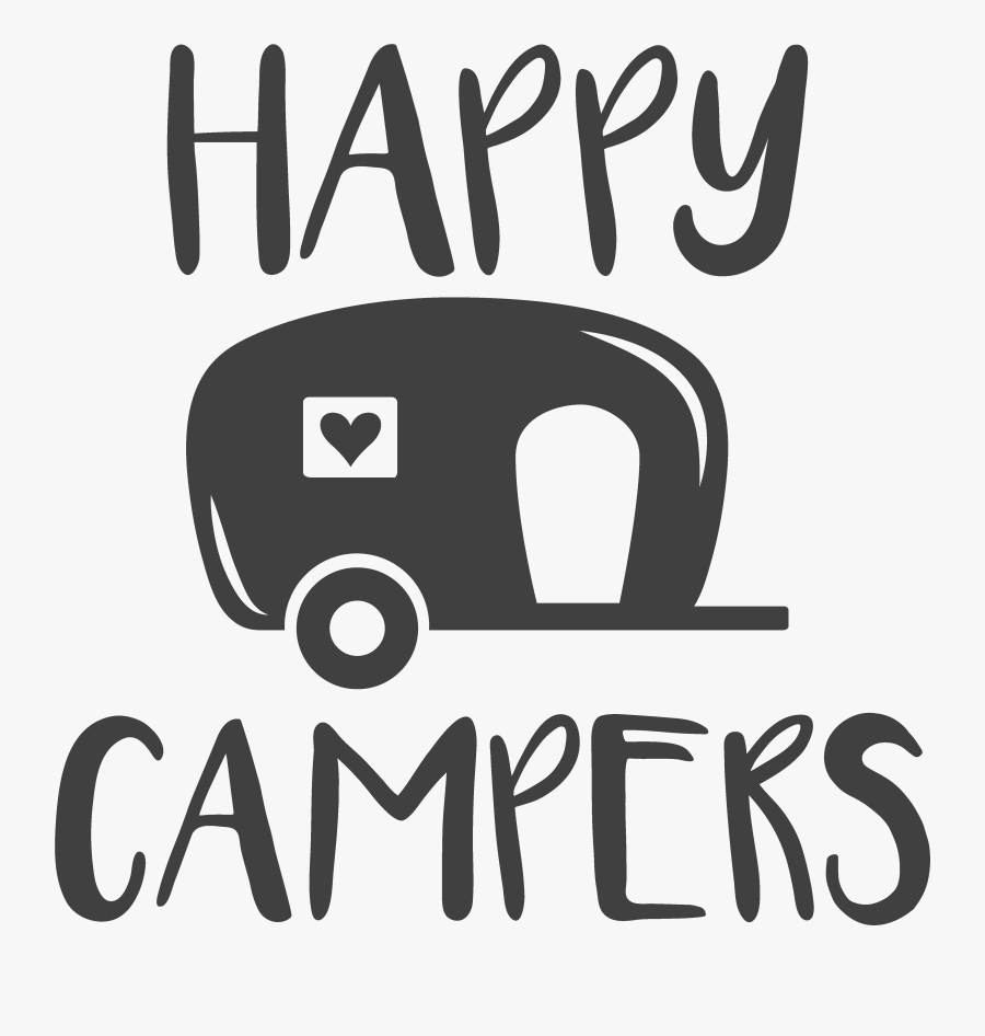 Campervans Autocad Dxf Silhouette Truck Camper - Happy Camper, Transparent Clipart