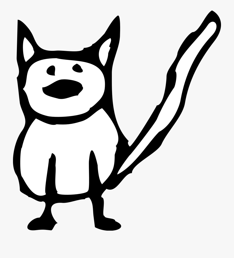 Cat Black And White Cartoon Black Cat Free Download - Animated Cat Black And White, Transparent Clipart