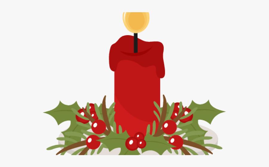 Christmas Candle Clipart - Christmas Candle Design Clipart, Transparent Clipart
