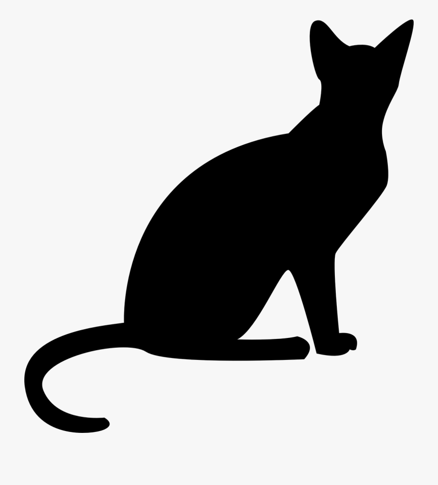 Transparent Sitting Silhouette Png - Sphynx Cat Silhouette Png, Transparent Clipart