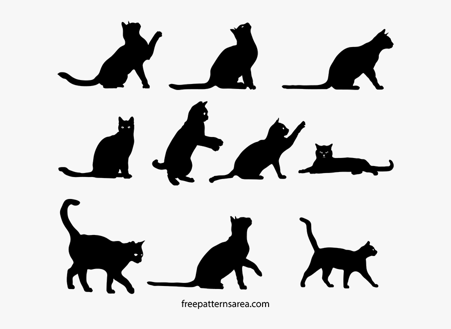 View Larger Image Free Cat Clipart Silhouette Vector - Cat Silhouette Free Vector, Transparent Clipart