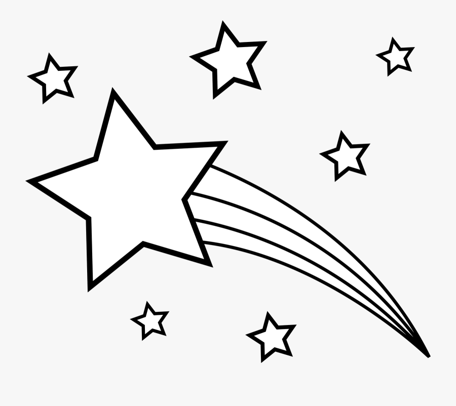 Transparent Line Of Stars Png - White Image Shooting Star, Transparent Clipart