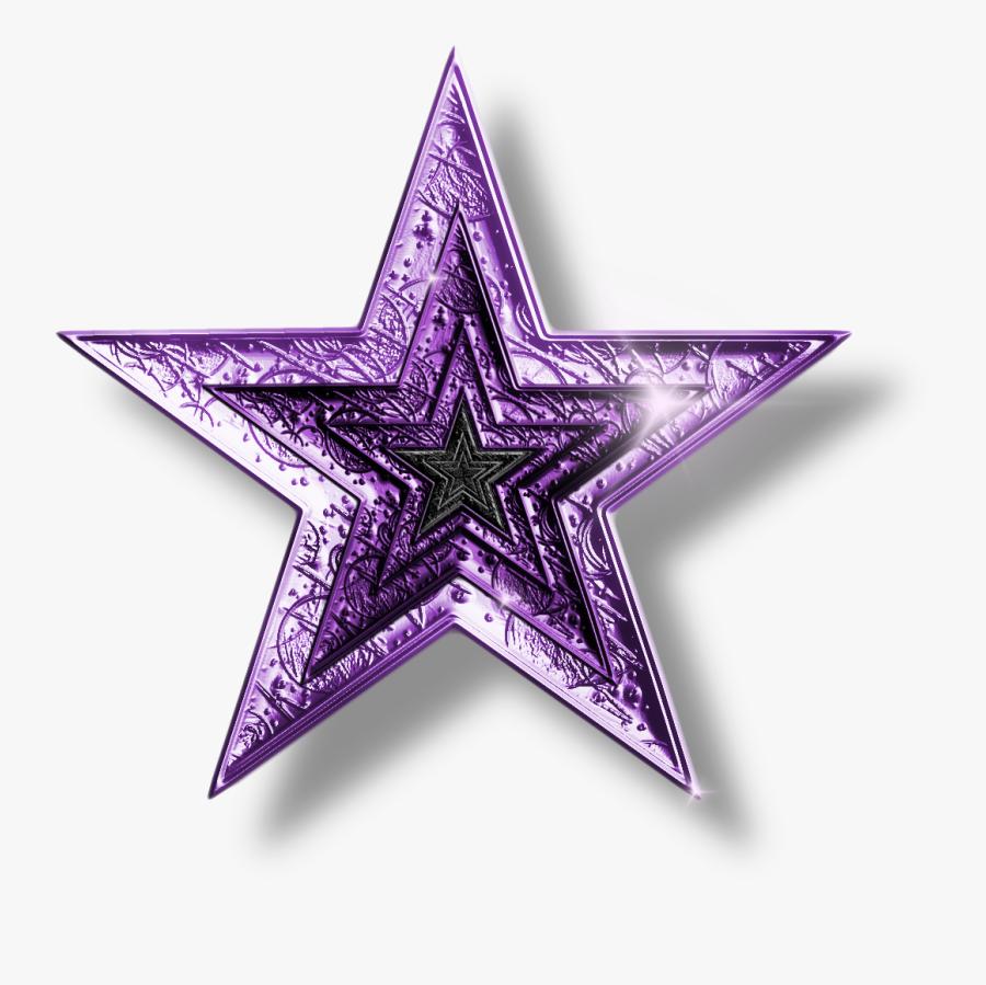 Glitter Clipart Shooting Star - Star Purple, Transparent Clipart