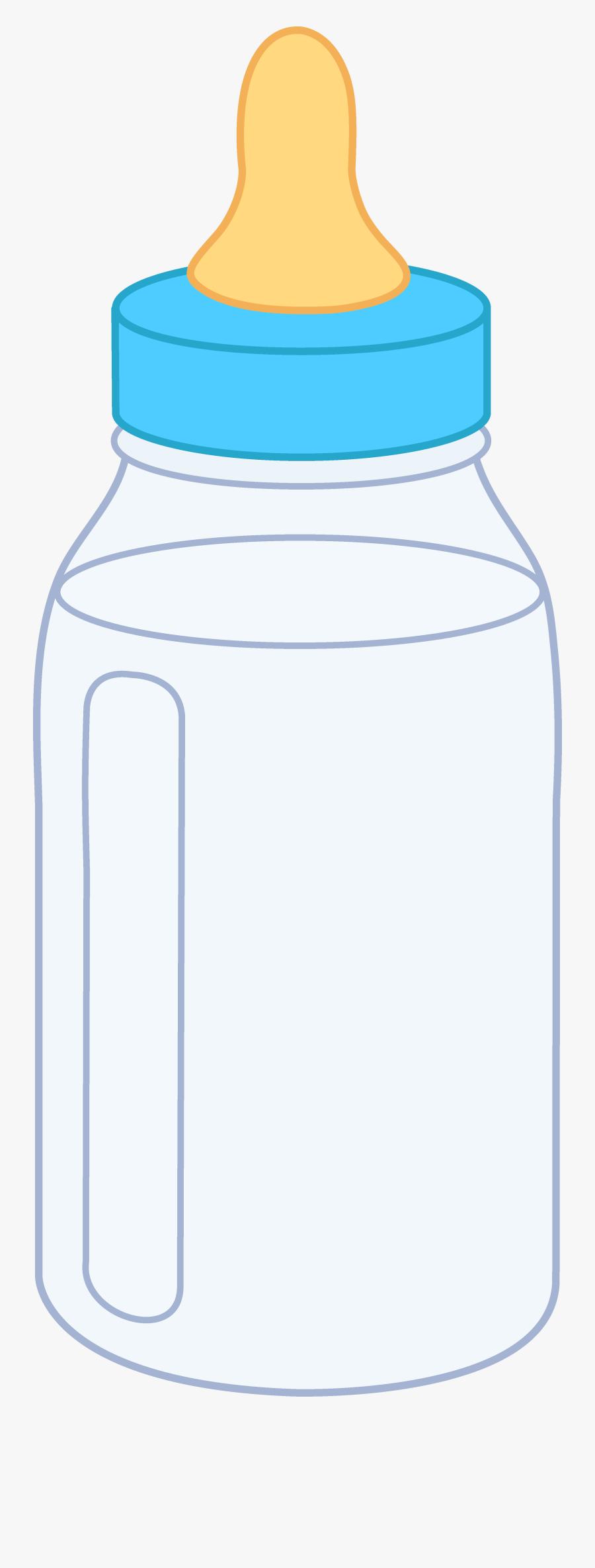 Blue Baby Bottle - Baby Bottle Of Milk Cartoon, Transparent Clipart