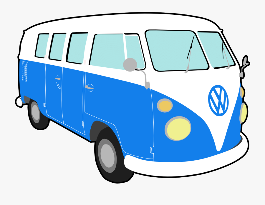 Vw Van Clipart - Transparent Hippie Bus Cartoon , Free ...