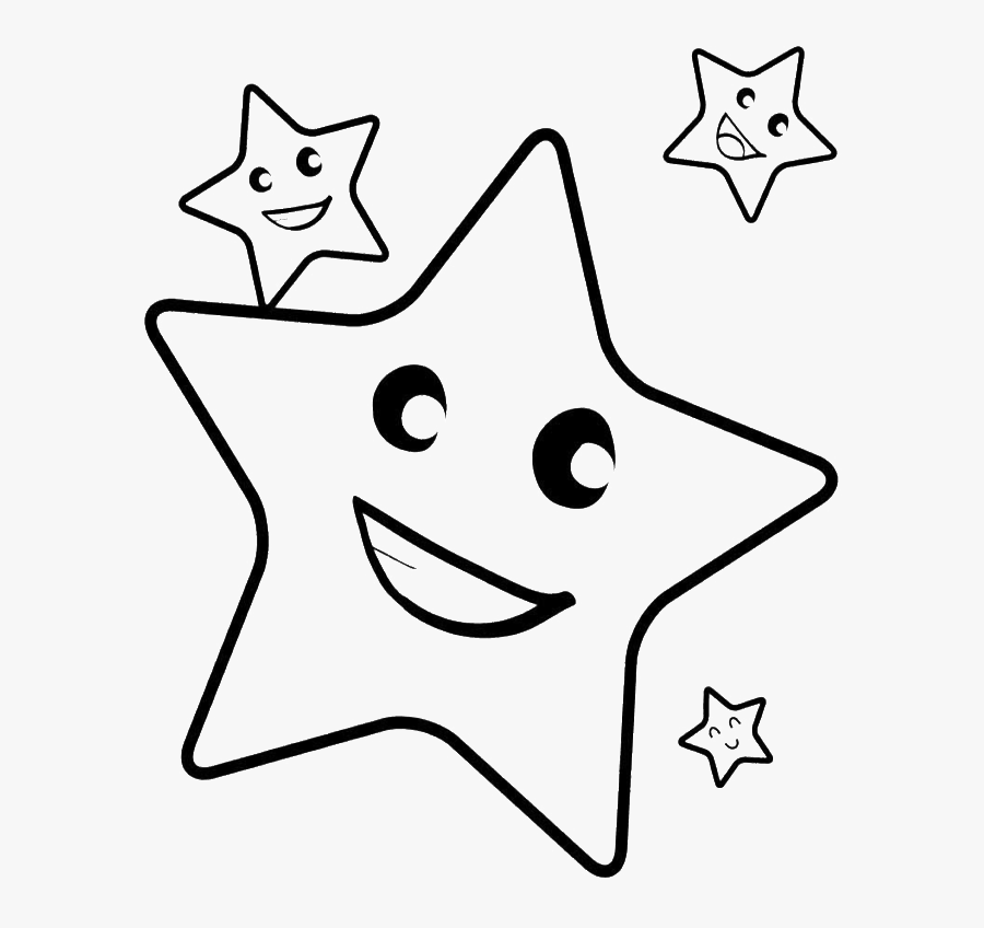 Shooting Star Line Drawing - Star Coloring For Kids, Transparent Clipart