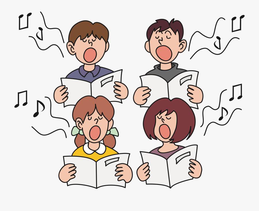 Children Singing Clipart, Transparent Clipart