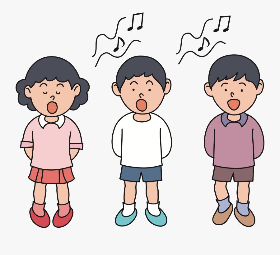 Clip Art Choir Head Shoulders Knees - Singing Clipart, Transparent Clipart