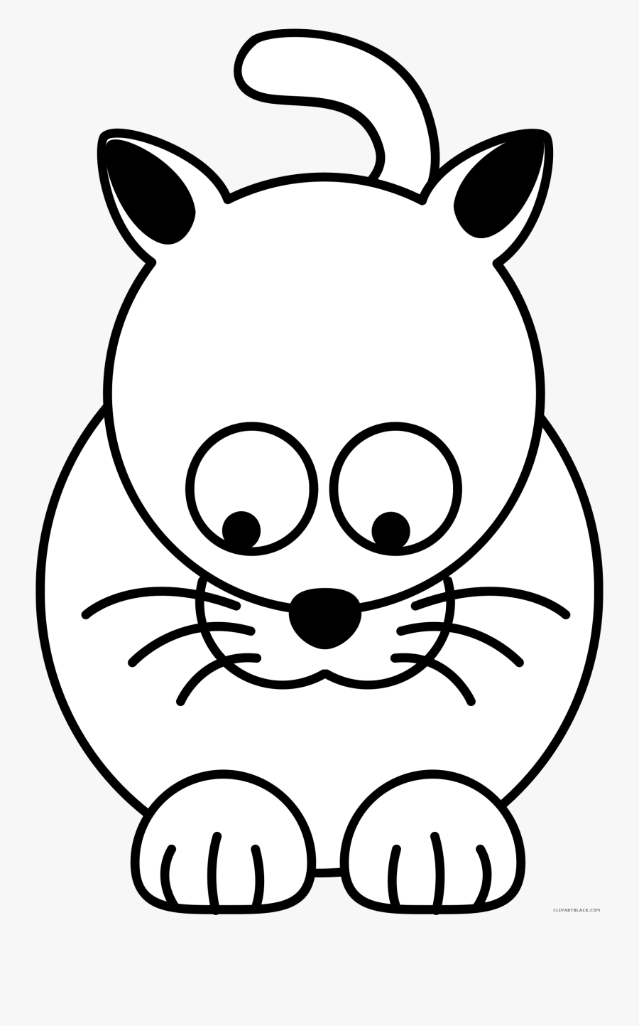 Kitty Cat Animal Free Black White Clipart Images Clipartblack - Kids Can Draw, Transparent Clipart