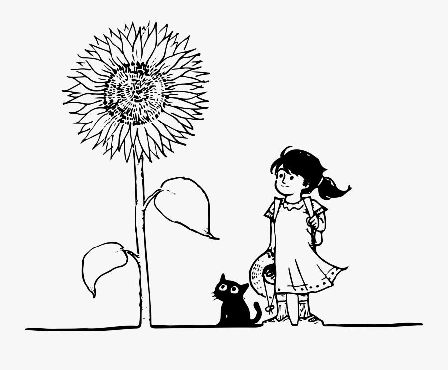 Cat Girl Line Art Clip Arts - Happy Birthday Beloved Friend, Transparent Clipart