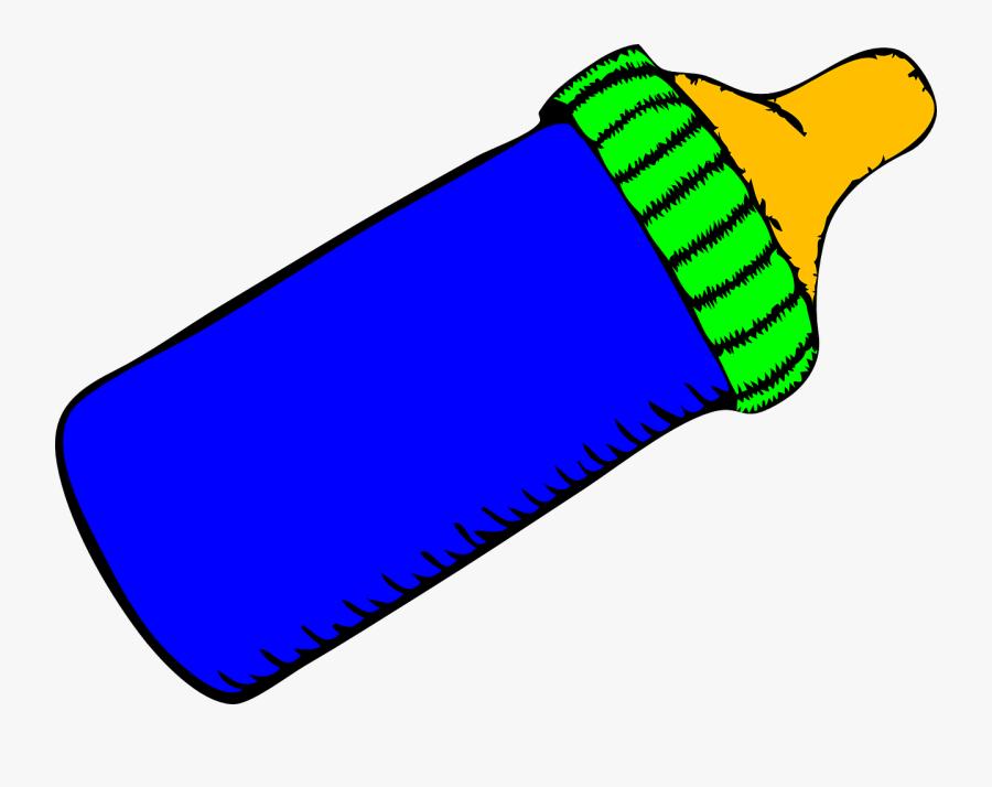 Baby Bottle, Baby, Blue, Bottle, Liquid - Cartoon Baby Bottle Blue, Transparent Clipart