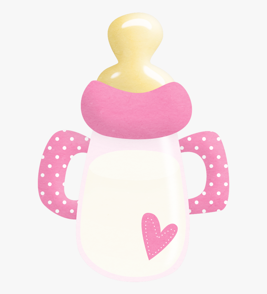 Baby-bottle - Baby Girl Baby Bottle Png, Transparent Clipart