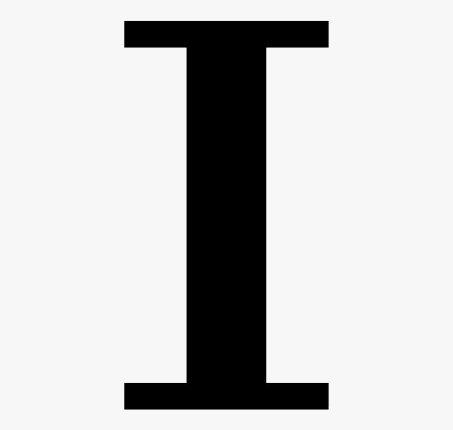 Cyrillic Letter I - Letter I Clipart Black , Free ...