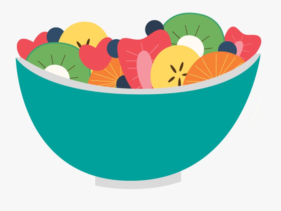 Pin Salad Images Clip Art - Transparent Background Fruit Salad Clipart, Transparent Clipart